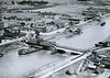 SUTTON BRIDGE - Aerial shot of the Cross Keys Bridge in about 1930. The station is just out of shot to the left.