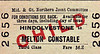 M&GN TICKET - HINDOLVESTONE - Third Class Child Single to Melton Constable - fare 3d.