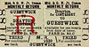 M&GN TICKET - DRAYTON FOR COSTESSEY - Third Class Monthly Return to Guestwick, fare 2s 8d.
