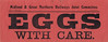 M&GN GOODS LABEL - EGGS WITH CARE - print run of 2500 dated September 1923.