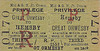 M&GN TICKET - HEMSBY - Third Class Privilege Return to Great Ormesby. Privilege tickets were reduced fare tickets for the families of railway employees.