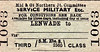 M&GN TICKET - LENWADE - Third Class Military Service Single.