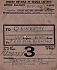 BRITISH RAILWAYS WAGON LABEL - SOUTH LYNN to OSWESTRY - Wagon No.P239377 is en route from the British Sugar Corporation at South Lynn to Oswestry, via Peterborough Midland and Bordesley, presumably loaded with beet sugar, consigned to Jones & Co., Smithfield Road, on December 27th, 1952.