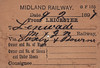 MIDLAND RAILWAY WAGON LABEL - LEICESTER to LENWADE - On February 9th, 1897, a wagon was sent from Leicester Midland to Lenwade on the M&GN via Saxby & Bourne and unfortunately no further details are known
