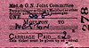 M&GN TICKET - MOULTON - Perambulator, Child's Mail Cart or other Article accompanied by Passenger - to Weston, a dog in this instance, fare 2d - issued on September 1st, 1958, two companies and 22 years out of date!