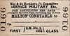 M&GN TICKET - MELTON CONSTABLE - First Class Military Service Single to blank destination.