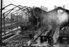SOUTH LYNN - The locomotive shed at South Lynn, built almost entirely of wood, was badly damaged by fire in early 1958. Amazingly, given that the threat of closure was already hanging over the M&GN, it was decided to rebuild it, work which was still underway when the line closed.