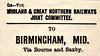 M&GN LUGGAGE/PARCEL LABEL - BIRMINGHAM (MIDLAND), via Bourne and Saxby.