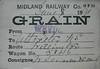 MIDLAND RAILWAY WAGON LABEL - WRYDE to UTTOXETER - On June 8th, 1891, Wagon No.5846 was despatched from Wryde to Uttoxeter, via Willington, loaded with grain, consigned to Vernon & Sons.