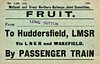 M&GN FRUIT LABEL - From Long Sutton to Huddersfield (LMSR), via LNER and Wakefield - print date 03/24.