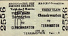 M&GN TICKET - CLENCHWARTON - Third Class Three Monthly Return to Terrington - fare 3d.