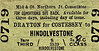 M&GN TICKET - DRAYTON FOR COSTESSEY - Third Class Single to Hindolvestone - fare 2s 4d, changed by hand to 2s 8d.