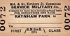 M&GN TICKET - RAYNHAM PARK - First Class Military Service Single to Blank Destination.