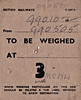 BRITISH RAILWAYS WAGON LABEL - MUNDESLEY to HONING (2) - On October 6th, 1954, a short rake of ballast wagons, Nos. B990102, B990505, B990507 and M610339, were sent to Honing via North Walsham Town by the District Engineer's Dept. The first three wagons were later classified by BR as type ZBO 'Grampus'.