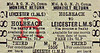 M&GN TICKET - HOLBEACH - Third Class Monthly Return to Leicester LMS, via Bourne & Saxby, fare 12s 7d.