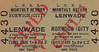 M&GN TICKET - LENWADE - Third Class Child Monthly Return to Norwich City, fare 1s 4 1/2d.