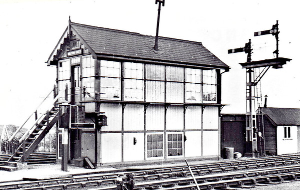 MELTON CONSTABLE - East Signalbox, controlling the exit from the station to the junction for Norwich and Yarmouth.