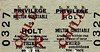 LNER TICKET - HOLT - Third Class Privilege Return to Melton Constable - clipped but not dated.