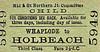 M&GN TICKET - WHAPLODE - Third Class Child Single to Holbeach, fare 2 1/2d.