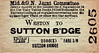 M&GN TICKET - WESTON - Third Class Single to Sutton Bridge, fare 1s 8d.