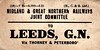 M&GN LUGGAGE/PARCEL LABEL - LEEDS GN - via Thorney & Peterborough - print date 03/21 - note the different printer.