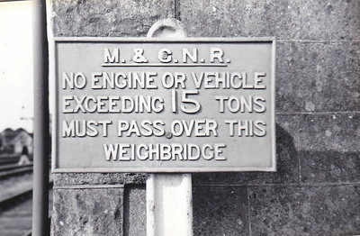 MELTON CONSTABLE - The warning sign to enginemen using the weighbridge.