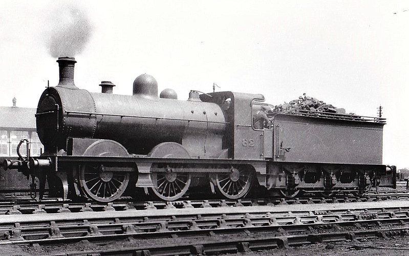 M&GN - 82 - Ivatt M&GN Class Da 0-6-0 - built 10/00 by Dubs & Co., Works No.3934 - 1921 rebuilt, 03/37 to LNER Class J4 No.082, 1946 to LNER No.4157 - 08/47 withdrawn from New England - seen here at South Lynn, 1935.