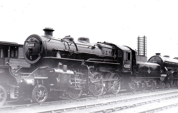 BR - 43085 - BR Ivatt Class 4MT 2-6-0 - built 11/50 by Darlington Works - 01/65 withdrawn from 41E Staveley - 35A New England loco from new to 01/58 - seen here at South Lynn when new.