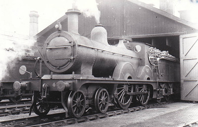 M&GN - 47 - Johnson Class C LNER Class D52 4-4-0 - built 1894 by Sharp Stewart & Co., Works No.3997, as M&GN No.47 - 1908, 1928 rebuilt - 07/37 to LNER No.047 - 06/42 withdrawn from Melton Constable - seen here at Melton Constable in August 1932.