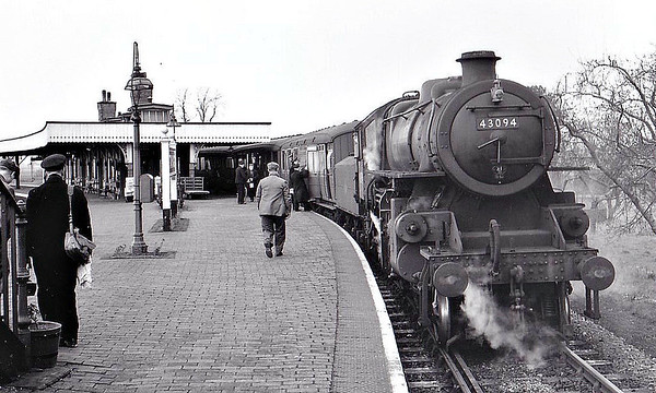 BR - 43094 -  BR Ivatt Class 4MT 2-6-0 - built 12/50 by Darlington Works - 01/64 withdrawn from 34E New England - seen here at Sutton Bridge, 20/02/59.