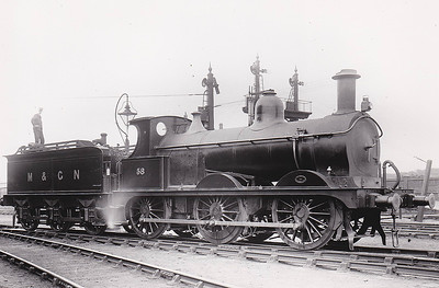 M&GN - 58 - Johnson M&GN Class D 2F 0-6-0 - built 08/1896 by Neilson & Co., Works No.5032 - 1921 rebuilt - 10/36 to LNER Class J40 No.058 - 09/38 withdrawn - seen here at Melton Constable.