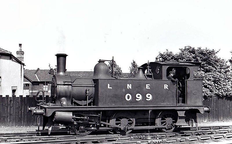 LNER - 099 - Marriott LNER Class J93 0-6-0T - built 03/02 by Melton Constable Works as M&GN No.17A - 1907 to M&GN No.99, 03/37 to LNER No.099 - 07/45 withdrawn from Melton Constable, where seen 05/37.