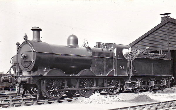 M&GN - 71 - Johnson M&GN Class D LNER Class J40 2F 0-6-0 - built 04/1899 by Kitson & Co., Works No.3878 - 01/21 rebuilt with Belpaire boiler to Class J41 - 05/37 to LNER No.071 - 07/43 withdrawn - seen here at Melton Constable.