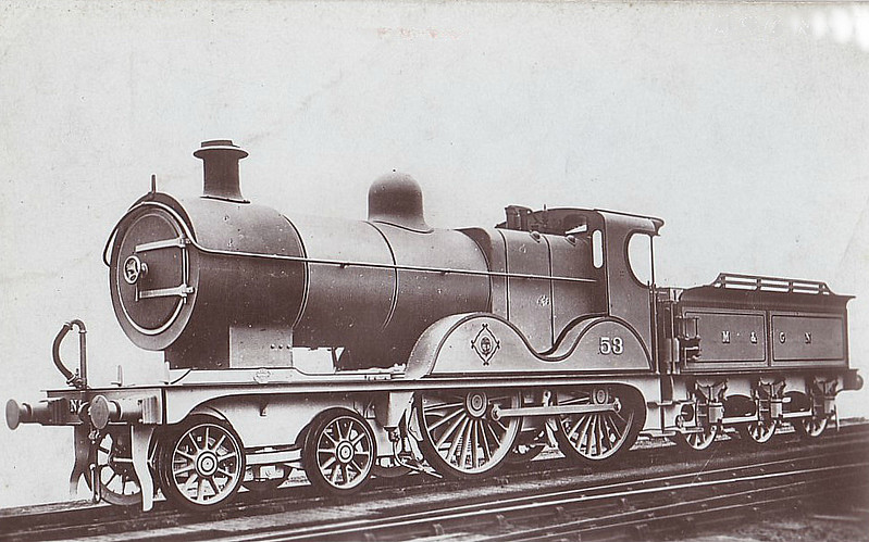 M&GN - 53 - Johnson M&GN Class C LNER Class D54 4-4-0 - built 1896 by Sharp Stewart & Co., Works No.4192 - 1910 rebuilt with Belpaire boiler to D54, 1925 rebuilt - 07/37 to LNER No.053 - 01/40 withdrawn from South Lynn,