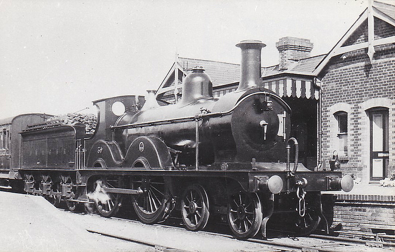 M&GN - 39 - Johnson M&GN Class C LNER Class D54 4-4-0 - built 1894 by Sharp Stewart & Co., Works No.3991 - 1908 rebuilt, 01/24 rebuilt with Belpaire boiler to Class D54 - LNER No.039 not applied - 02/37 withdrawn from Melton Constable - seen here as built.