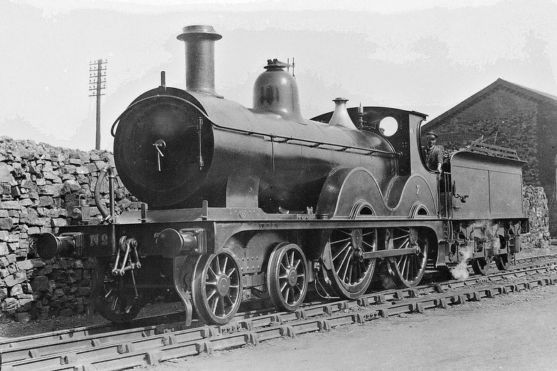 M&GN -  7 - Johnson Class C LNER Class D52 4-4-0 - built 1894 by Sharp Stewart & Co., Works No.4007, as M&GN No.7 - rebuilt 1914 and 1933 - 10/36 to LNER No.07 - 06/37 withdrawn from South Lynn