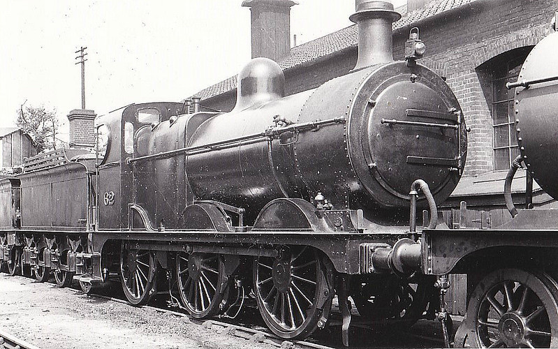 M&GN - 62 - Johnson M&GN Class D 2F 0-6-0 - built 08/1896 by Neilson & Co., Works No.5036 - 1906 rebuilt, 1924 rebuilt with Belpaire boiler - 05/37 to LNER Class J41 No.062 - 10/39 withdrawn - seen here at Melton Constable in 1934.