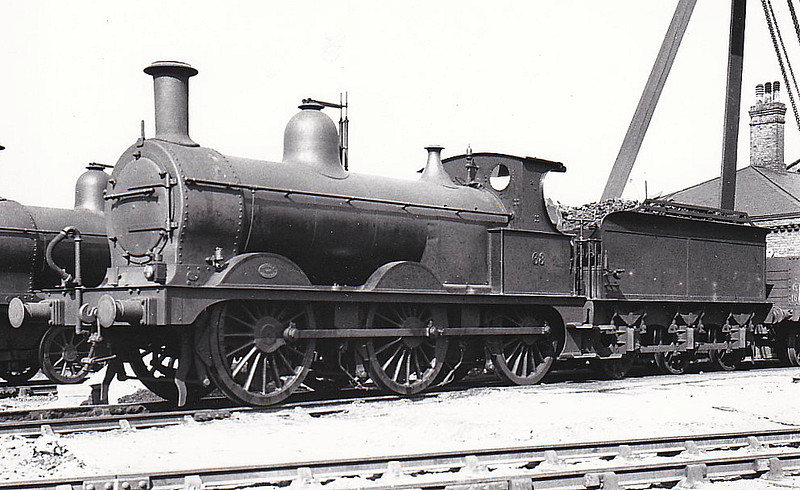 M&GN - 63 -  Johnson M&GN Class D 2F 0-6-0 - built 09/1896 by Neilson & Co., Works No.5037 - 1919 rebuilt - 10/36 to LNER Class J40, No.063 not applied - 02/37 withdrawn.