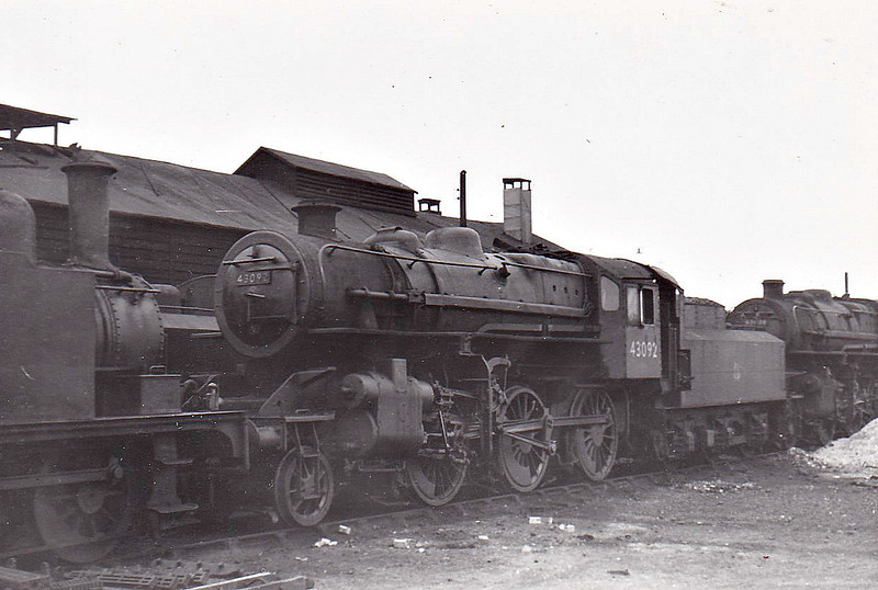 BR - 43092 - BR Ivatt Class 4MT 2-6-0 - built 12/50 by Darlington Works - 04/65 withdrawn from 41E Barrow Hill - 31D South Lynn loco from new to 03/59 - seen here at South Lynn.