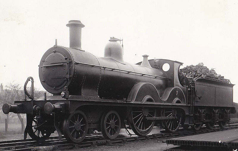 M&GN -  7 - Johnson Class C LNER Class D52 4-4-0 - built 1894 by Sharp Stewart & Co., Works No.4007, as M&GN No.7 - rebuilt 1914 and 1933 - 10/36 to LNER No.07 - 06/37 withdrawn from South Lynn.