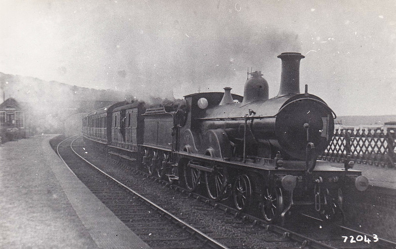 M&GN -  7 - Johnson Class C LNER Class D52 4-4-0 - built 1894 by Sharp Stewart & Co., Works No.4007, as M&GN No.7 - rebuilt 1914 and 1933 - 10/36 to LNER No.07 - 06/37 withdrawn from South Lynn - seen here at Weybourne on a Cromer train.