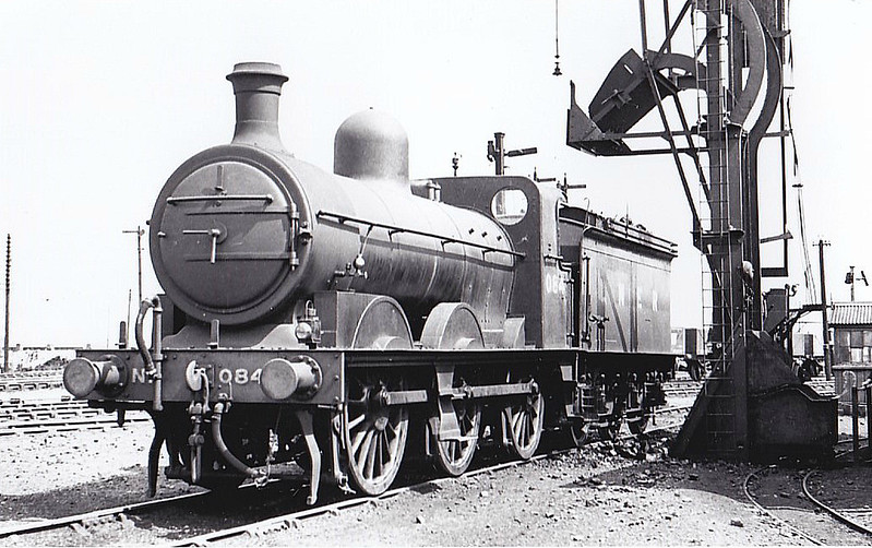 LNER - 084 - Ivatt M&GN Class Da 0-6-0 - built 1900 by Dubs & Co., Works No.3936 - 1924 rebuilt, 01/37 rebuilt to Class J4 and to LNER No.084, 1946 to LNER No.4159 - 08/47 withdrawn from New England - seen here at South Lynn, 05/37.