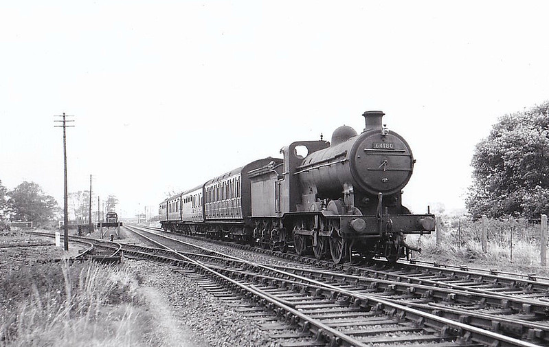 BR - 64180 - Ivatt GNR Class J6 0-6-0 - built 11/11 by Doncaster Works as GNR No.531 - 04/25 to LNER No.3531, 12/46 to LNER No.4180, 01/49 to BR No.64180 - 03/60 withdrawn from 34E New England - seen here at Sutton Dock Junction.