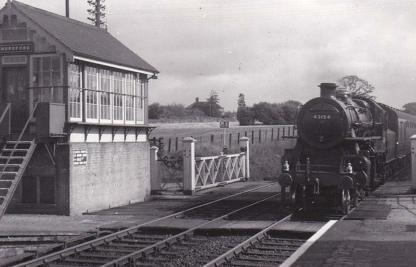 BR - 43154 - BR Ivatt Class 4MT 2-6-0 - built 12/51 by Doncaster Works - withdrawn 12/64 from 40E Colwick - seen here at Thursford on September 26th, 1958, my 8th birthday!