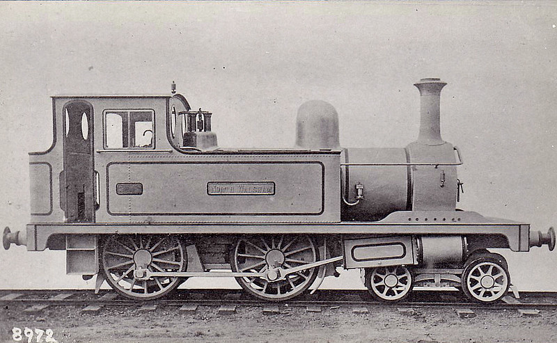 Y&NNR - NORTH WALSHAM - Bromley Y&NN/L&FR M&GN Class B 4-4-0T - built 1878 by Hudswell Clarke Ltd., Works No.208 - about 1880, to Y&NN No.32, 1886 to No.41 - 1894 rebuilt with larger boiler - 1904 withdrawn, used as stationary boiler at Melton Constable Works - the boxes behind the cylinders were unique to this engine, designed to keep sand out of the motion on the Yarmouth - Ormesby section of Y&NN - builders picture I think.