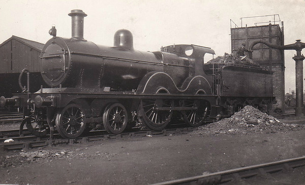 M&GN - 2 - Johnson Class C LNER Class D53 4-4-0 - built 1894 by Sharp Stewart & Co., Works No.4002, as M&GN No.2 - 1910 rebuilt, 1931 rebuilt to Class D53 with Belpaire boiler - 01/37 to LNER No.02 - 05/43 withdrawn from Yarmouth Beach.