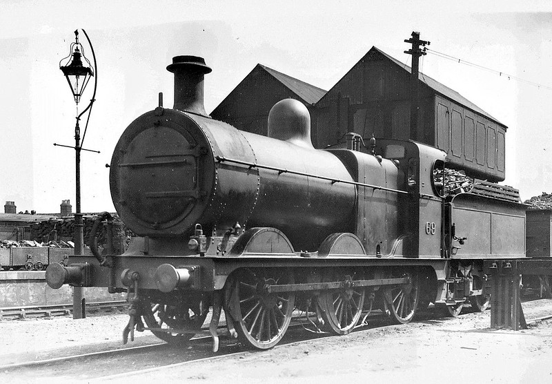 M&GN - 69 - Johnson M&GN Class D LNER Class J40 2F 0-6-0 - built 04/1899 by Kitson & Co., Works No.3876 - 1909 rebuilt, 01/21 rebuilt with Belpaire boiler to Class J41 - 03/37 to LNER No.069 - 07/42  withdrawn - seen here at Melton Constable, 05/37.