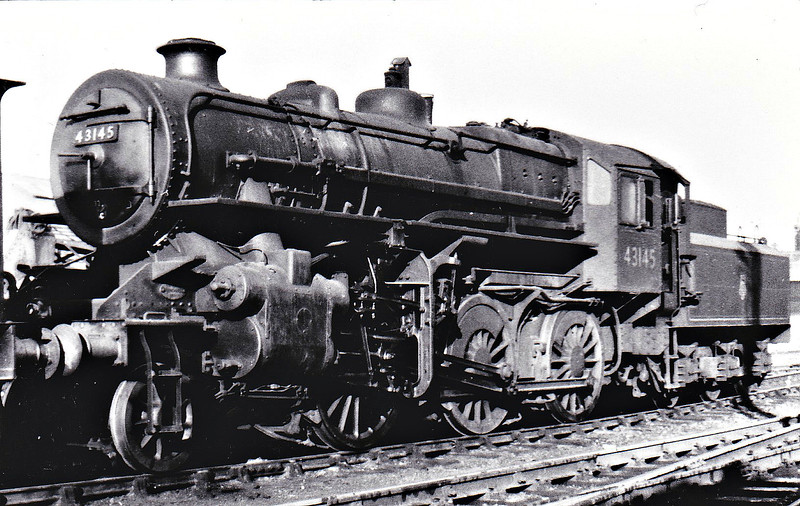 BR - 43145 - BR Ivatt Class 4MT 2-6-0 - built 09/51 by Doncaster Works - withdrawn 01/65 from 40E Colwick.