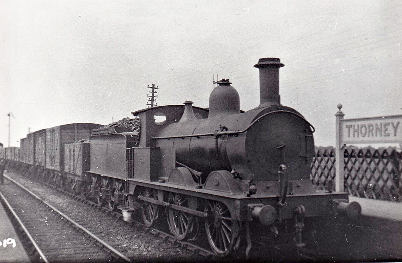 M&GN - 65 - Johnson M&GN Class D 2F 0-6-0 - built 03/1899 by Neilson & Co., Works No.5039 - 1920 rebuilt - 09/37 to LNER Class J40 No.065 - 03/44 withdrawn - seen here at Thorney.