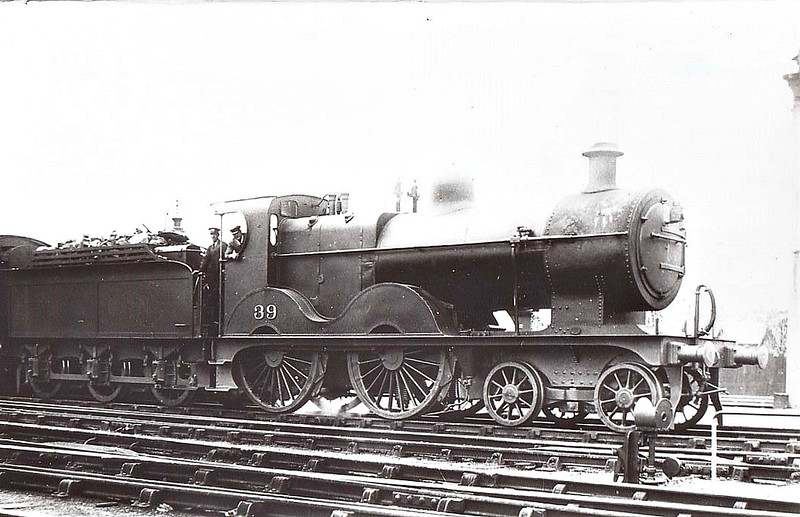 M&GN - 39 - Johnson M&GN Class C LNER Class D54 4-4-0 - built 1894 by Sharp Stewart & Co., Works No.3991 - 1908 rebuilt, 01/24 rebuilt with Belpaire boiler to Class D54 - LNER No.039 not applied - 02/37 withdrawn from Melton Constable - seen here at Melton Constable, 10/36.
